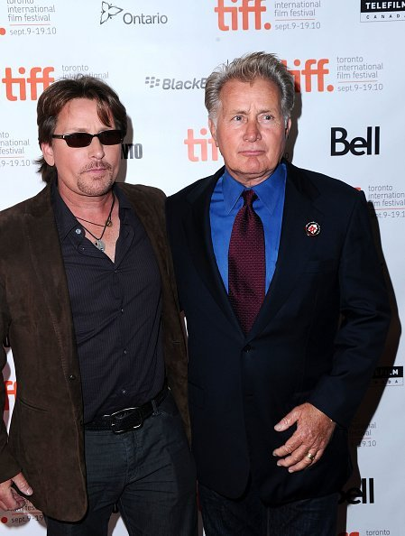 """Emilio Estevez and Martin Sheen attend """"The Way"""" Premiere during the 35th Toronto International Film Festival at Winter Garden Theatre on September 10, 2010, in Toronto, Canada. 