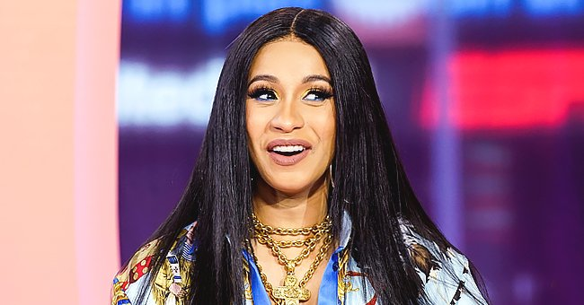 Cardi B's Daughter Kulture Captures Hearts Singing About Her Mom as She Sits on a Diamond Chair