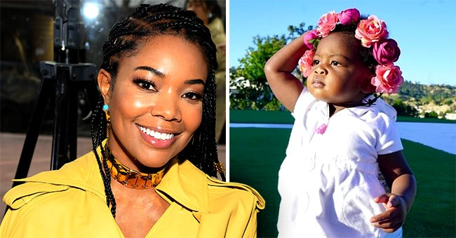 Gabrielle Union's Daughter Kaavia Poses like Model with Coronet of Flowers in a Cute Photo
