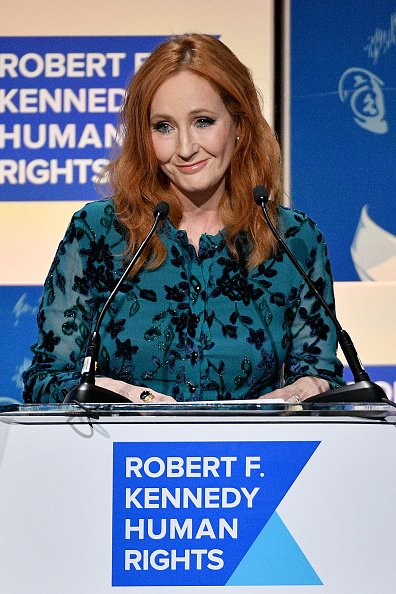 J.K. Rowling speaks onstage at the 2019 RFK Ripple of Hope Awards at New York Hilton Midtown on December 12, 2019 in New York City   Photo: Getty Images