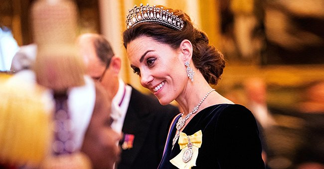 Kate Middleton Stuns in Tiara & Chic Black Midnight Dress for Queen Elizabeth's Annual Palace Reception