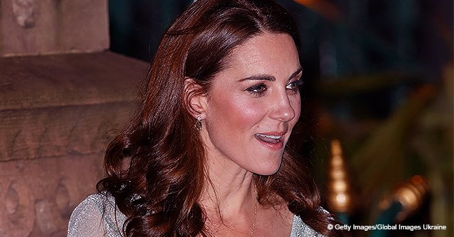 Kate Middleton Dazzles in $2,100 Metallic-Knit Dress with Sheer Sleeves to Complement Her Beauty