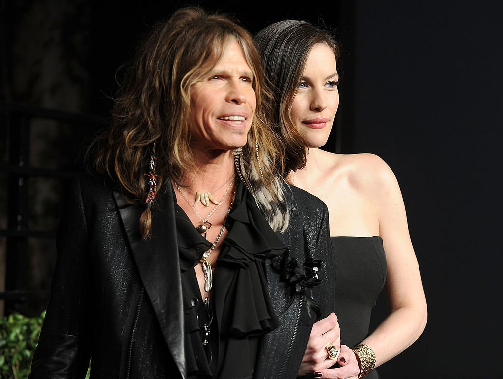 Steven Tyler and actress Liv Tyler at the Vanity Fair Oscar party on February 27, 2011. | Photo: GettyImages