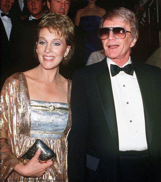 Julie Andrews with her husband Blake Edwards at a British Olympic Association gala | Photo: Getty Images