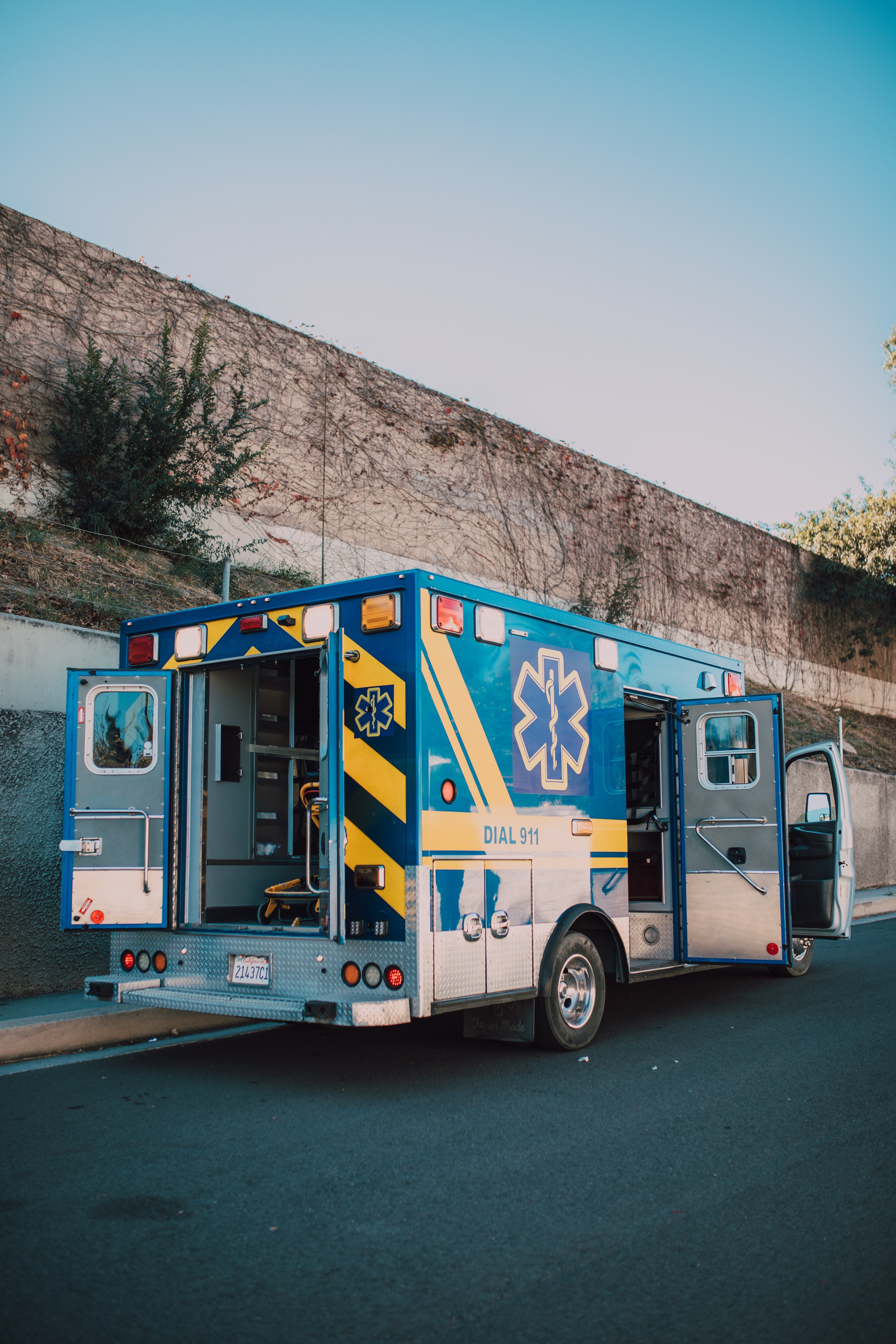 An ambulance with its' back doors open| Source: Pexels/ RODNAE Productions