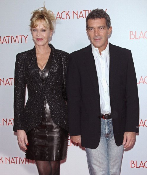 "Les acteurs Melanie Griffith et Antonio Banderas assistent à la première de ""Black Nativity"" à l'Apollo Theatre à New York 