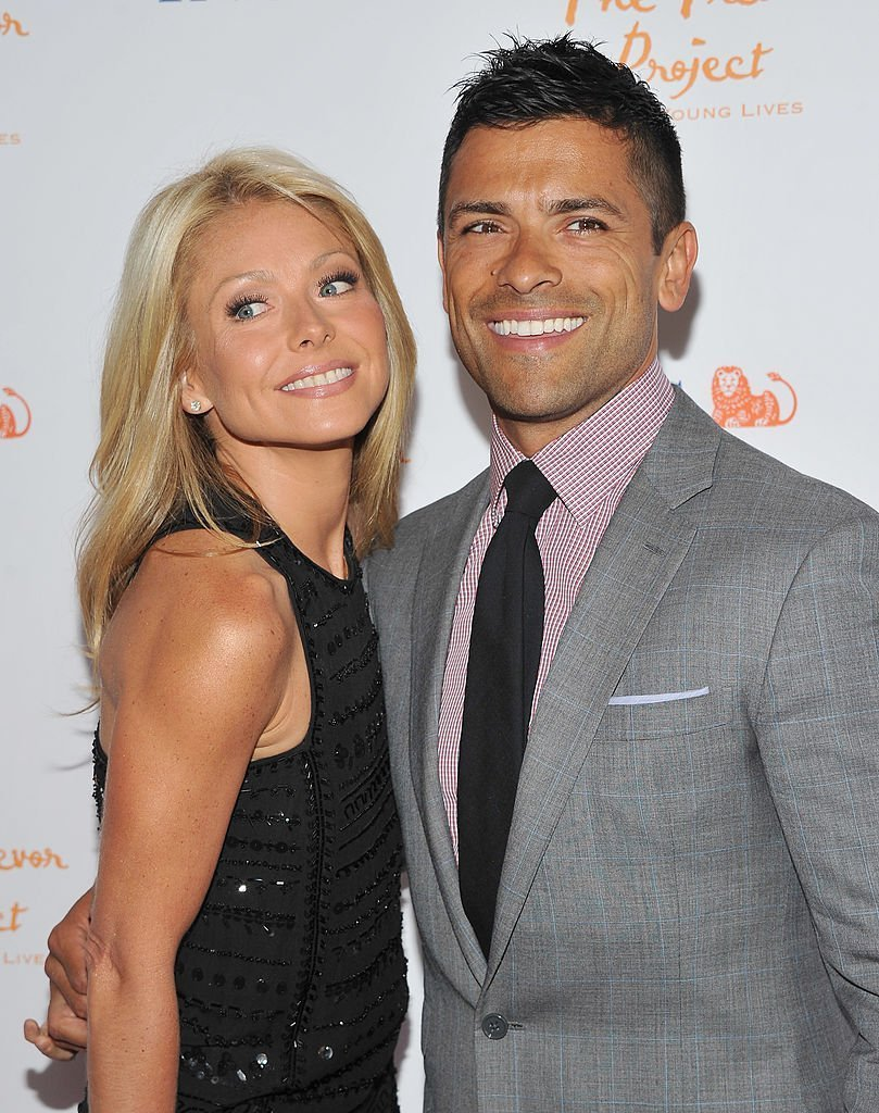 "Kelly Ripa and Mark Consuelos attend ""Trevor Live: An Evening Benefiting the Trevor Project"" in New York City on June 27, 2011 
