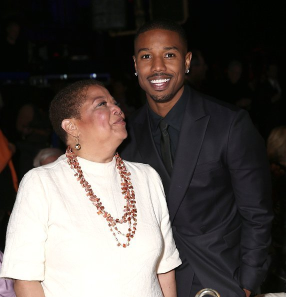 Michael B. Jordan and mother attend the Lupus LA's Orange Ball at Fox Studio Lot on June 6, 2015 in Century City, California.|Photo:Getty Images