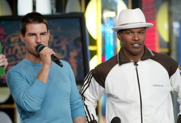 Tom Cruise und Jamie Foxx, MTV TRL, New York City, 2004 | Quelle: Getty Images