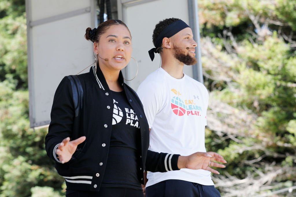 Ayesha Curry and Stephen Curry speak onstage at the launch of Eat. Learn. Play. Foundation in Oakland, California | Photo: Getty Images