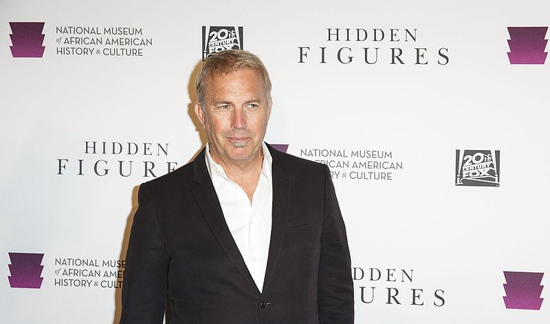 "Kevin Costner arrives on the red carpet for a screening of the film ""Hidden Figures."" 