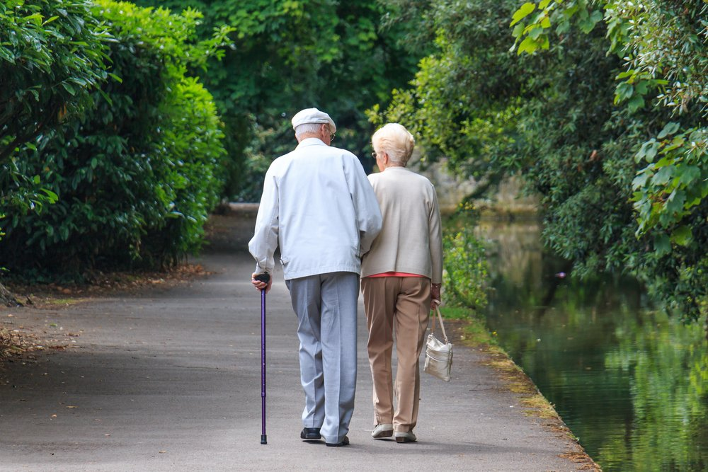 An old couple walking in the park. | Photo: Shutterstock