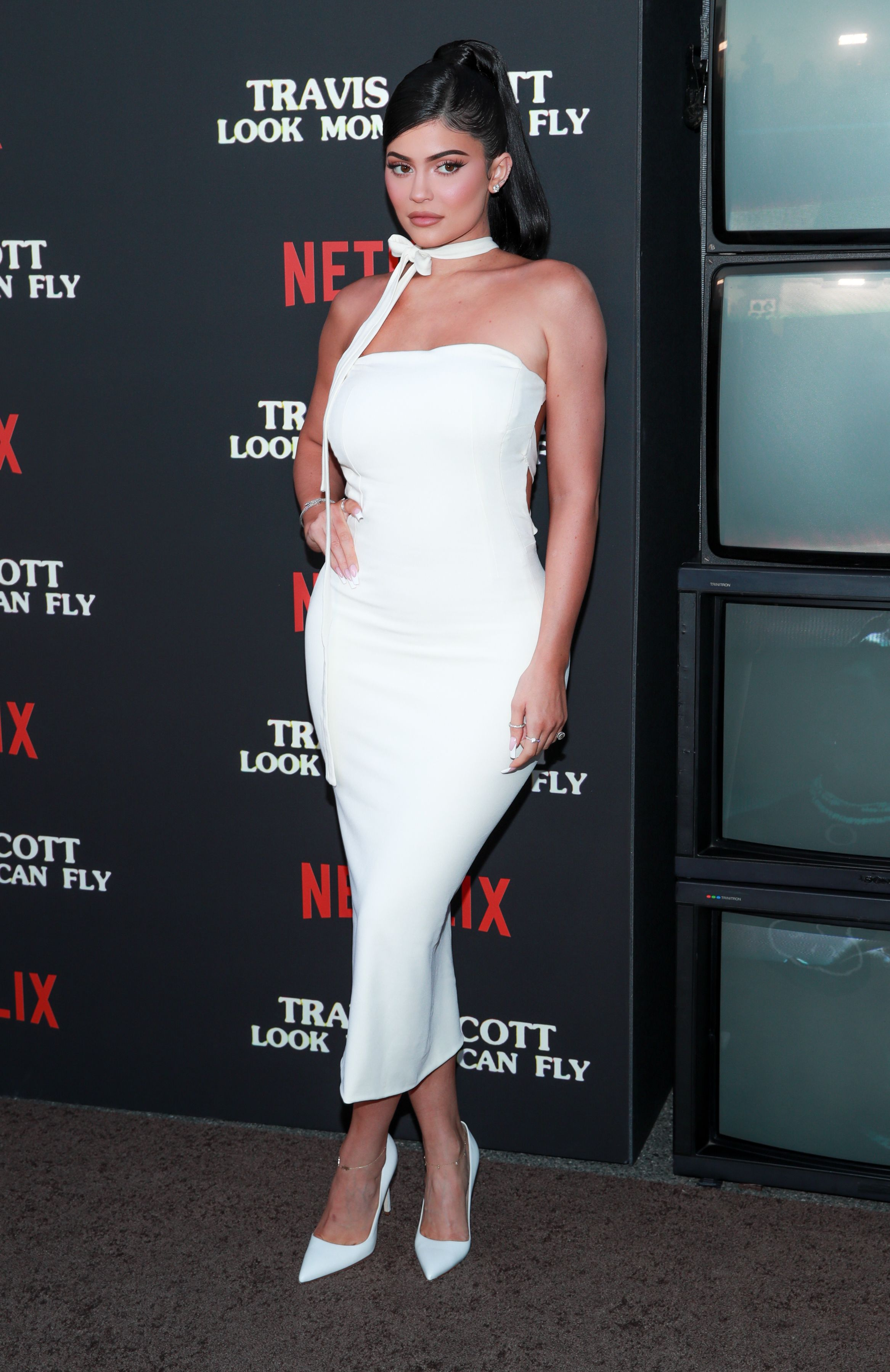 """Kylie Jenner attends the premiere of Netflix's """"Travis Scott: Look Mom I Can Fly"""" at Barker Hangar on August 27, 2019 