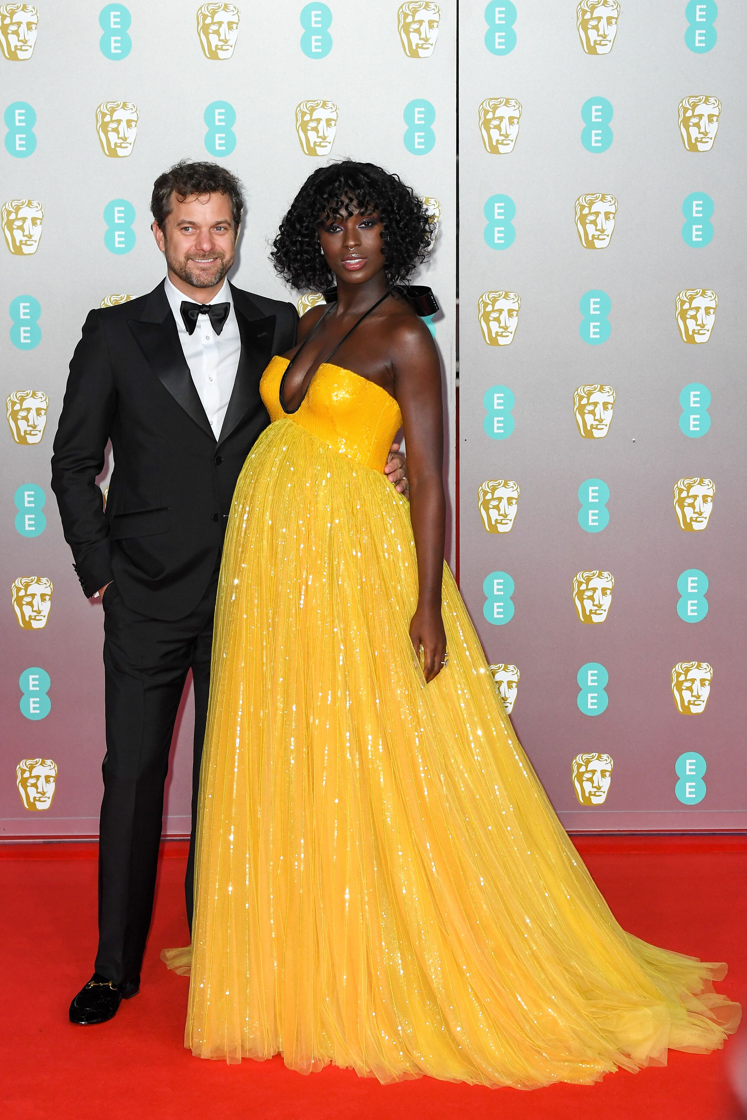 Jodie Turner-Smith and Joshua Jackson at the BAFTAs in London | Source: Getty Images/GlobalImagesUkraine