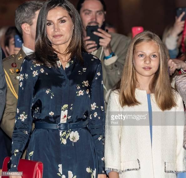 Reina Letizia y Leonor de Borbón.    Fuente: Getty Images