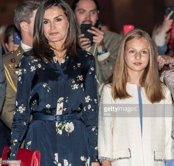 Reina Letizia y Leonor de Borbón. || Fuente: Getty Images