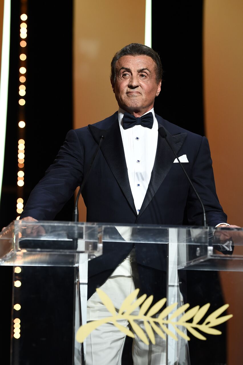 Sylvester Stallone presents the Grand Prix Award at the Closing Ceremony. | Source: Getty Images