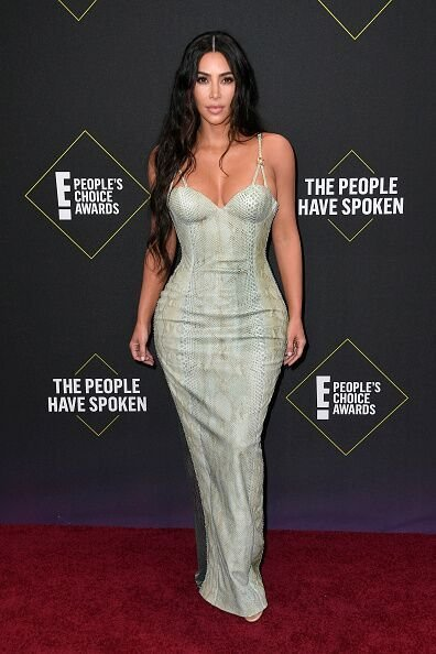 Kim Kardashian at the E! People's Choice Awards at Barker Hangar on November 10, 2019 in Santa Monica, California | Photo: Frazer Harrison/Getty Images