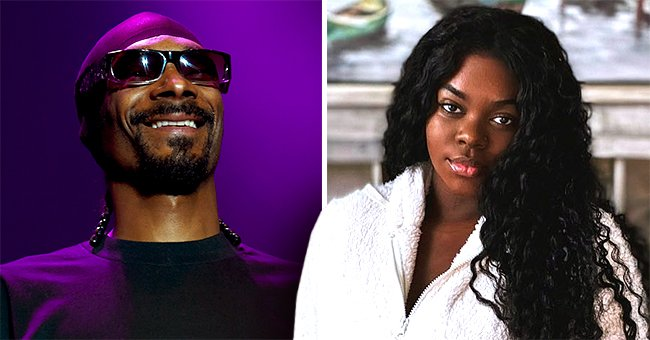 Snoop Dogg's Daughter Princess Ditches Wig Posing in White Top & Camo Yoga Pants in a Photo