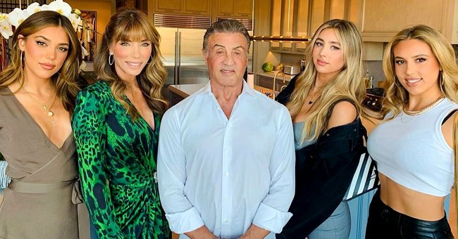 Sylvester Stallone Looks Ageless Alongside Supermodel Daughters & Wife As He Turns 75