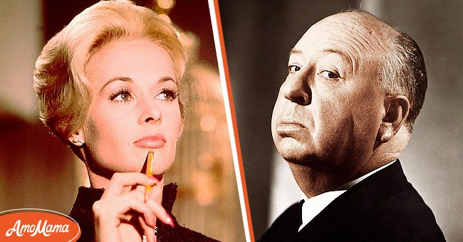 A picture collage of Tippi Hadren and Alfred Hitchcock   Photo: Getty Images