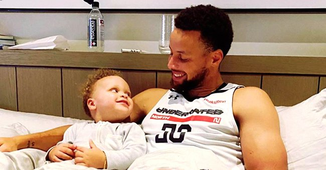 Steph Curry Melts Hearts with Video of Toddler Son Canon Doing Push-Ups in Gym with Dad