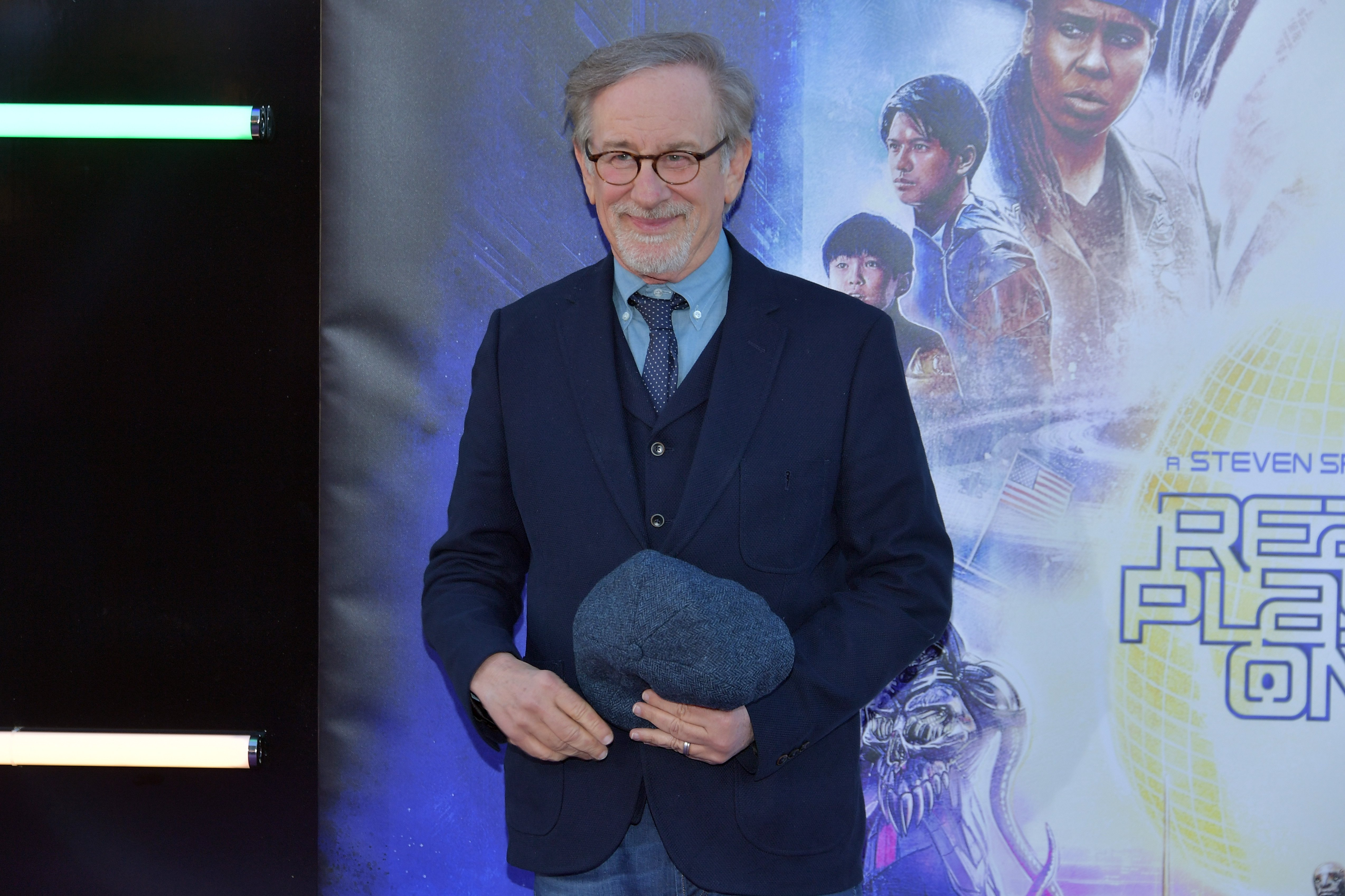 "Steven Spielberg attends the Premiere of Warner Bros. Pictures' ""Ready Player One"" at Dolby Theatre on March 26, 2018 