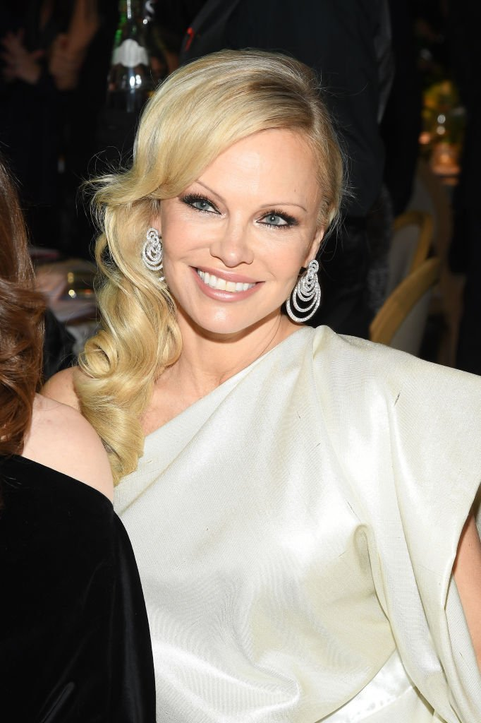 "Pamela Anderson at the 17th ""Diner De La Mode"" as part of Paris Fashion Week in Paris, France 