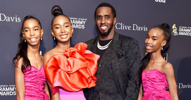 Sean Combs and his daughters D'Lila Star, Chance, Jessie James at the Pre-GRAMMY Gala at The Beverly Hilton Hotel on January 25, 2020 | Photo: Getty Images