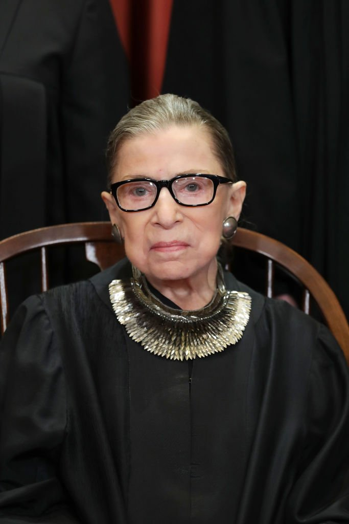 United States Supreme Court Associate Justice Ruth Bader Ginsburg in the East Conference Room at the Supreme Court building in Washington, DC | Photo: Getty Images