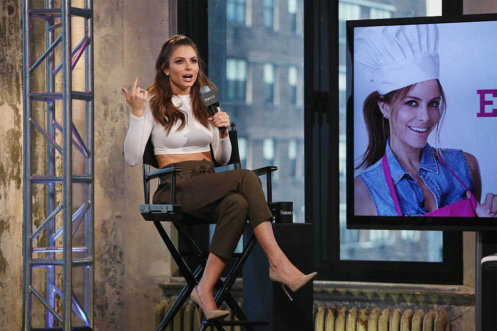 "Maria Menounos discusses her 3rd book release, ""The EveryGirl's Guide to Cooking' at AOL Studios in New York on March 9, 2016 in New York City 