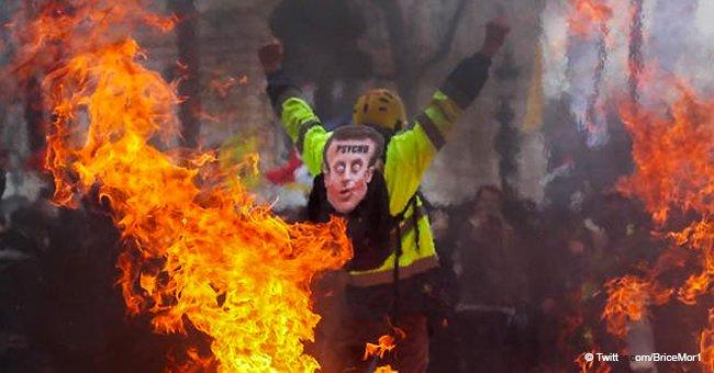 Gilets jaunes : les dégâts lourds de l'Acte XVIII à Paris, 11 blessés, le Fouquet's incendié