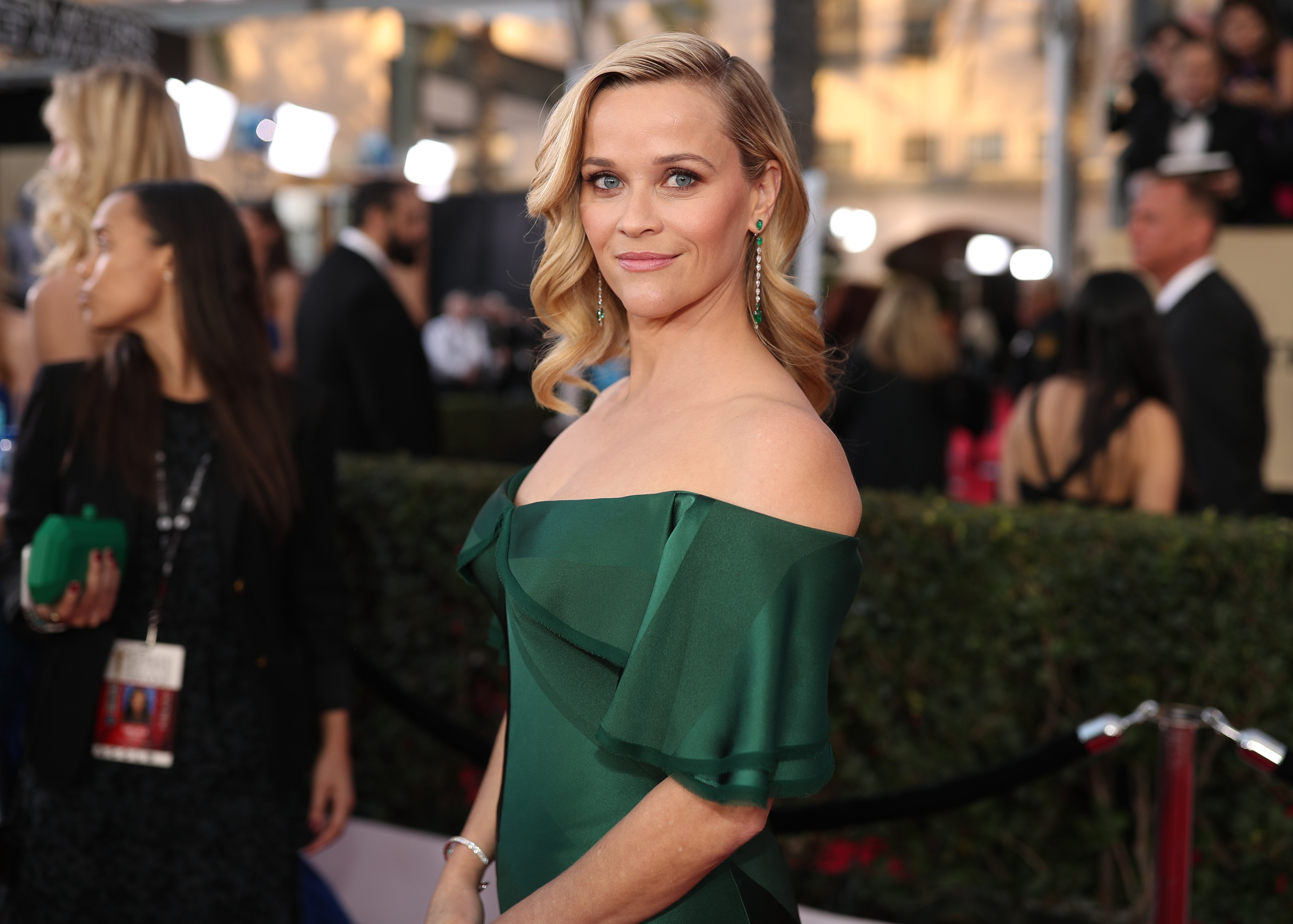 Reese Witherspoon attends the 24th Annual Screen Actors Guild Awards at The Shrine Auditorium on January 21, 2018 in Los Angeles, California. | Source: Getty Images