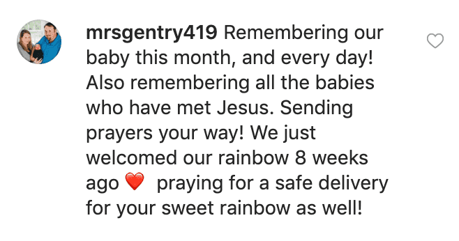 Fan's comment on Lauren Duggar's post. | Source: Instagram/siandlaurenduggar