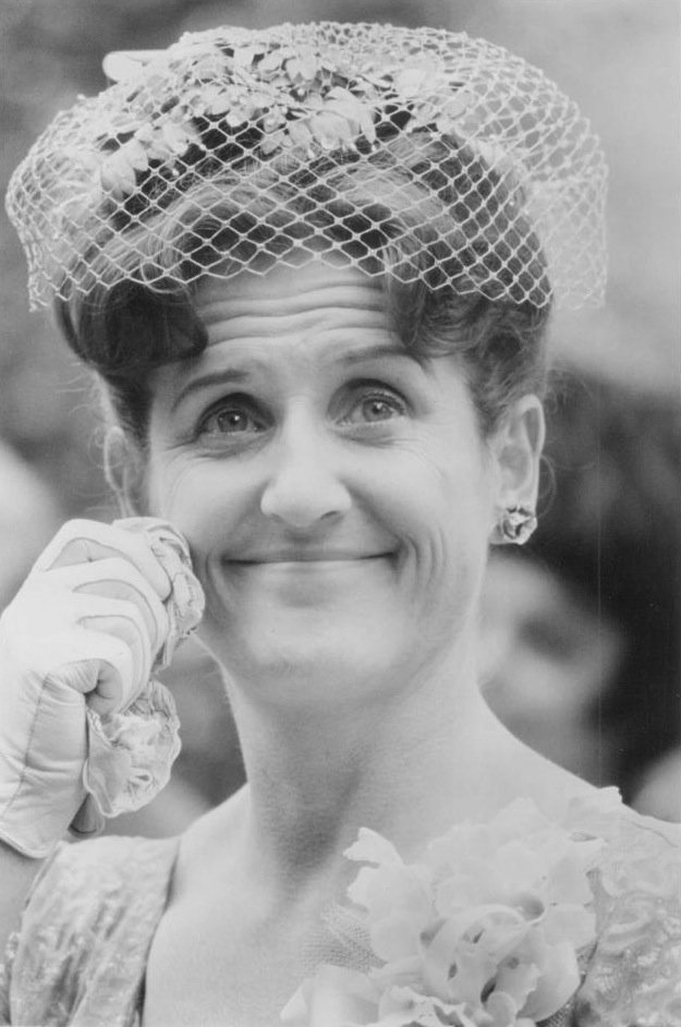 """Ann B. Davis promoting her role on the ABC comedy series """"The Brady Bunch"""" in 1969 