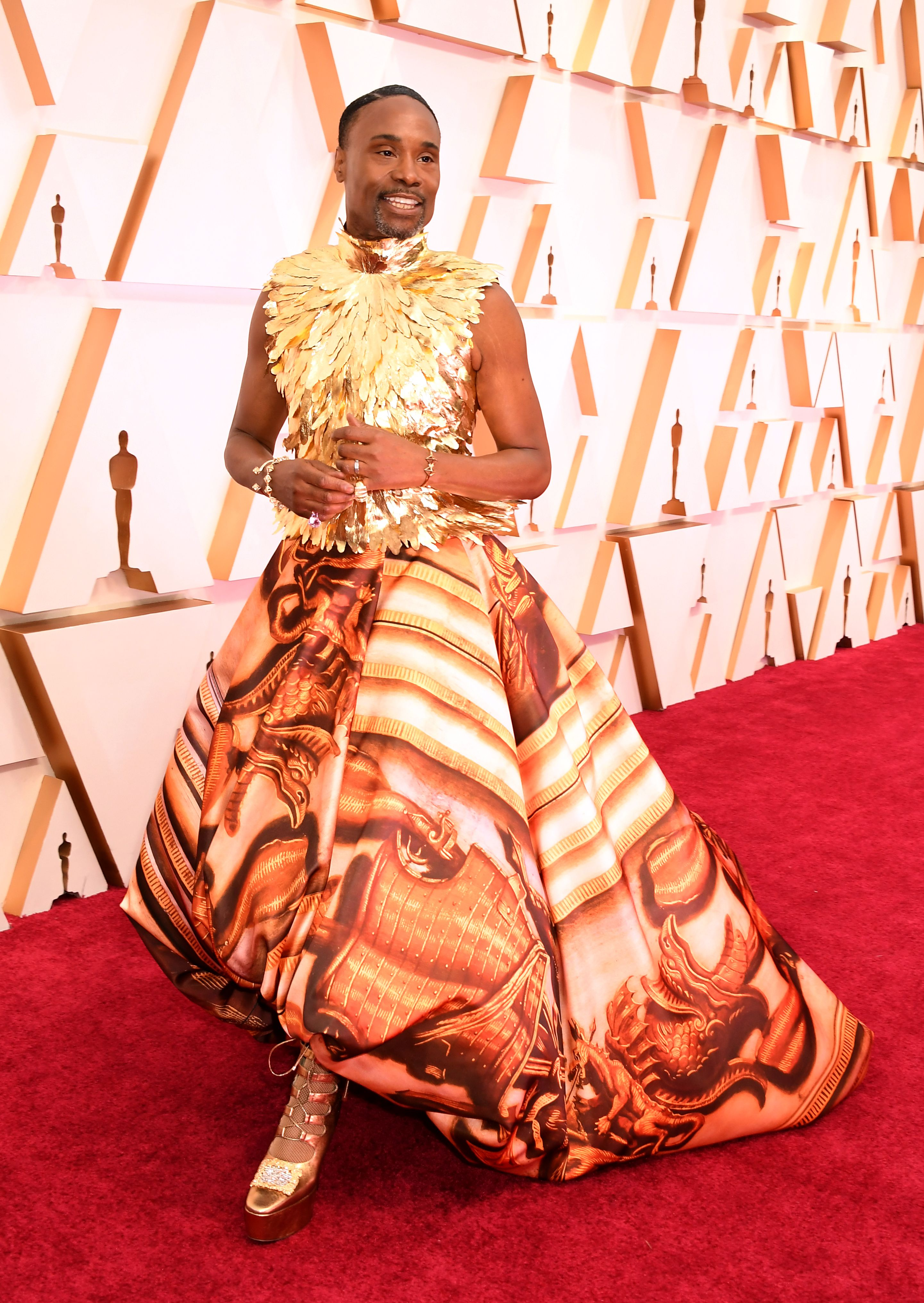 Billy Porter at the Academy Awards on February 09, 2020 in Hollywood, California.   Photo: Getty Images