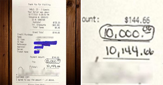 Man Leaves Incredible $10,000 Tip for a $144 Bill at Florida Restaurant