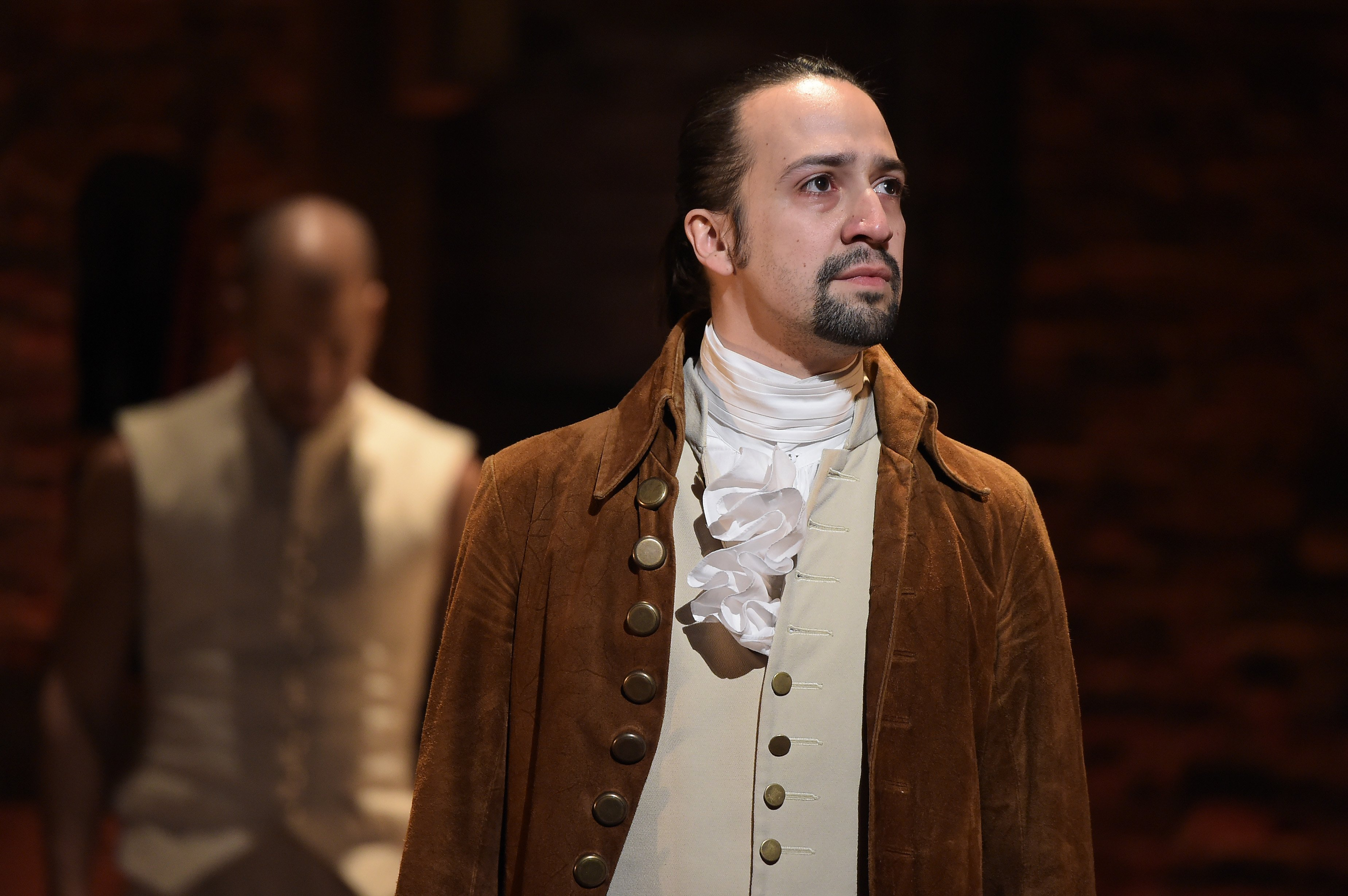 """Broadway actor Lin-Manuel Miranda during his Grammy performance for """"Hamilton"""" in 2016.   Photo: Getty Images"""
