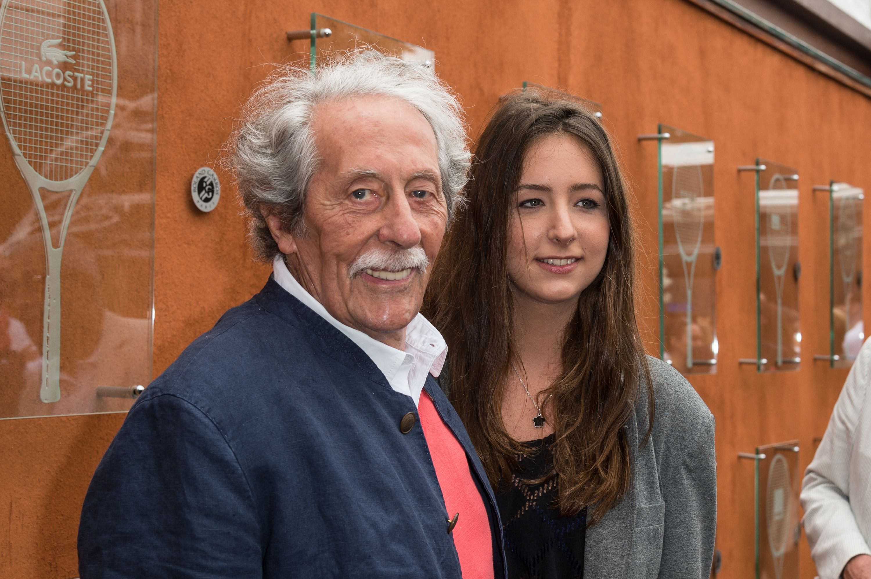 Jean Rochefort et sa fille Clémence Sighting à l'Open de France de Roland Garros le 1 juin 2012 à Paris, France. | Photo : Getty Images