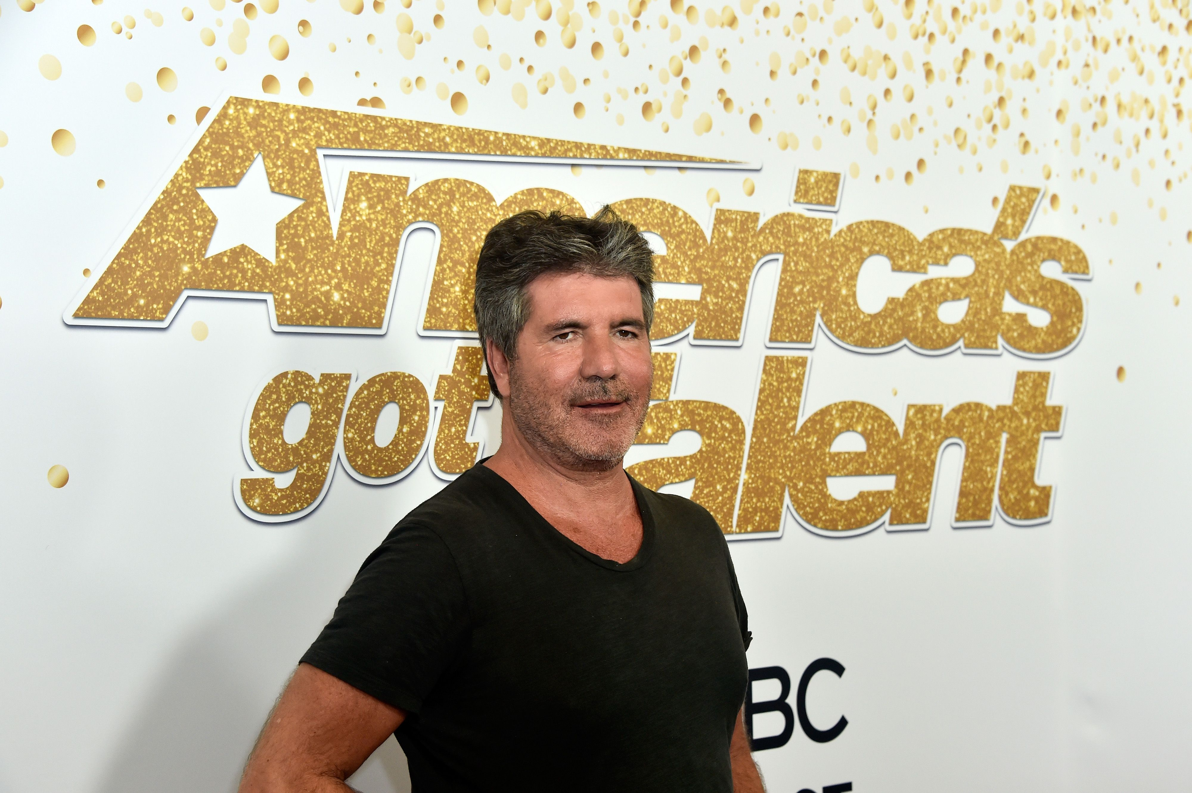 """Simon Cowell at the """"America's Got Talent"""" season 13 live show on August 14, 2018, in Hollywood, California 