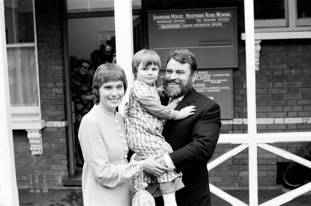 Brian Blessed marries Hildegard Hope Neil at Woking Registry Office with their daughter Rosalind, 4, present at the wedding, on December 28, 1978   Photo: Getty Images
