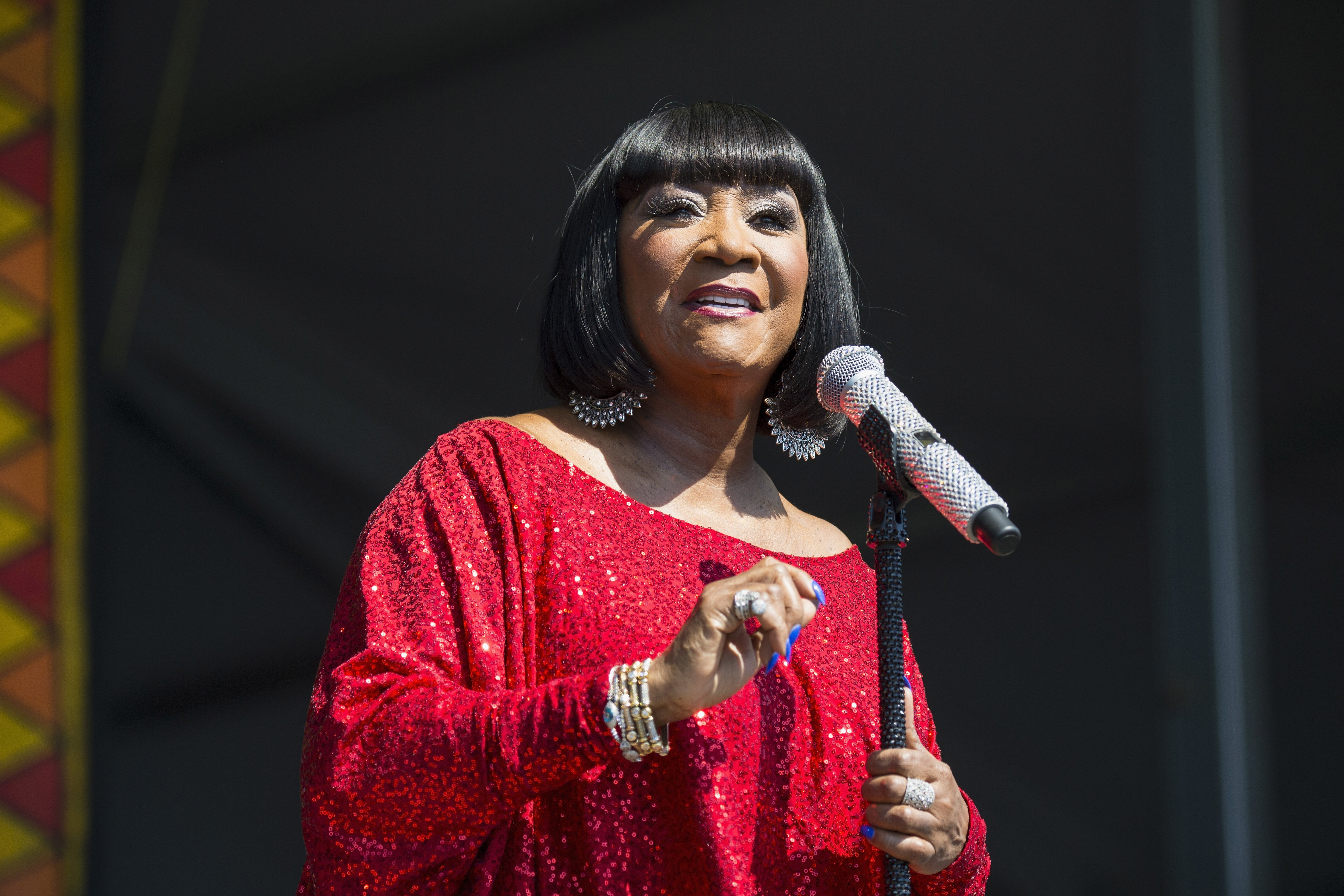 Patti LaBelle performs during the 2017 New Orleans Jazz & Heritage Festival at Fair Grounds Race Course on May 7, 2017   Photo: Getty Images