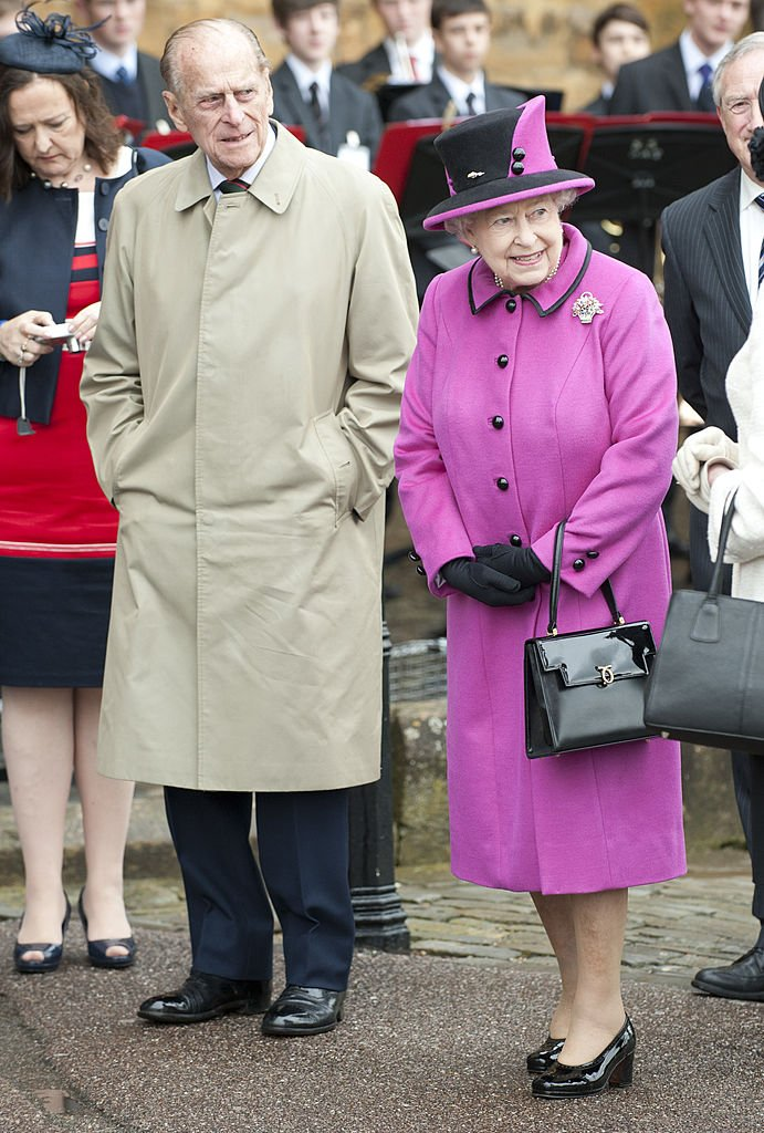 Queen Elizabeth Ll And Duke Of Edinburgh Visit Sherborne Abbey And Visit A Mad Hatters Tea Party    Photo: Getty Images