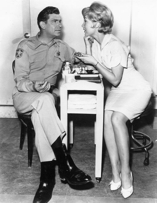 "Andy Griffith and Barbara Eden from ""The Andy Griffith Show"" in 1962. 