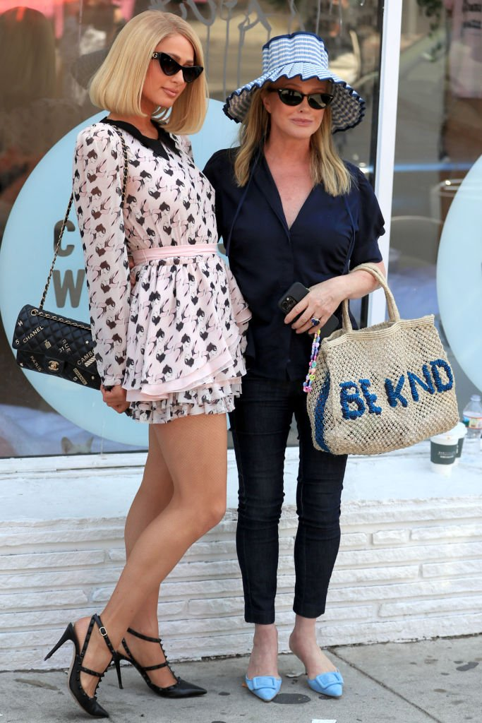 Paris Hilton and Kathy Hilton outside a cat cafe in Los Angeles, September 2021   Source: Getty Images