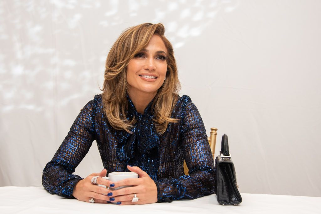 """Jennifer Lopez attends the """"Hustlers"""" press conference at the Fairmont Royal York on September 07, 2019, in Toronto, Canada. 