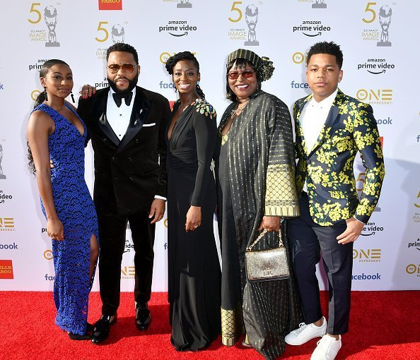 Kyra Anderson, Anthony Anderson, Alvina Stewart, Doris Hancox, and Nathan Anderson at Dolby Theatre on March 30, 2019 in Hollywood, California. | Photo: Getty Images