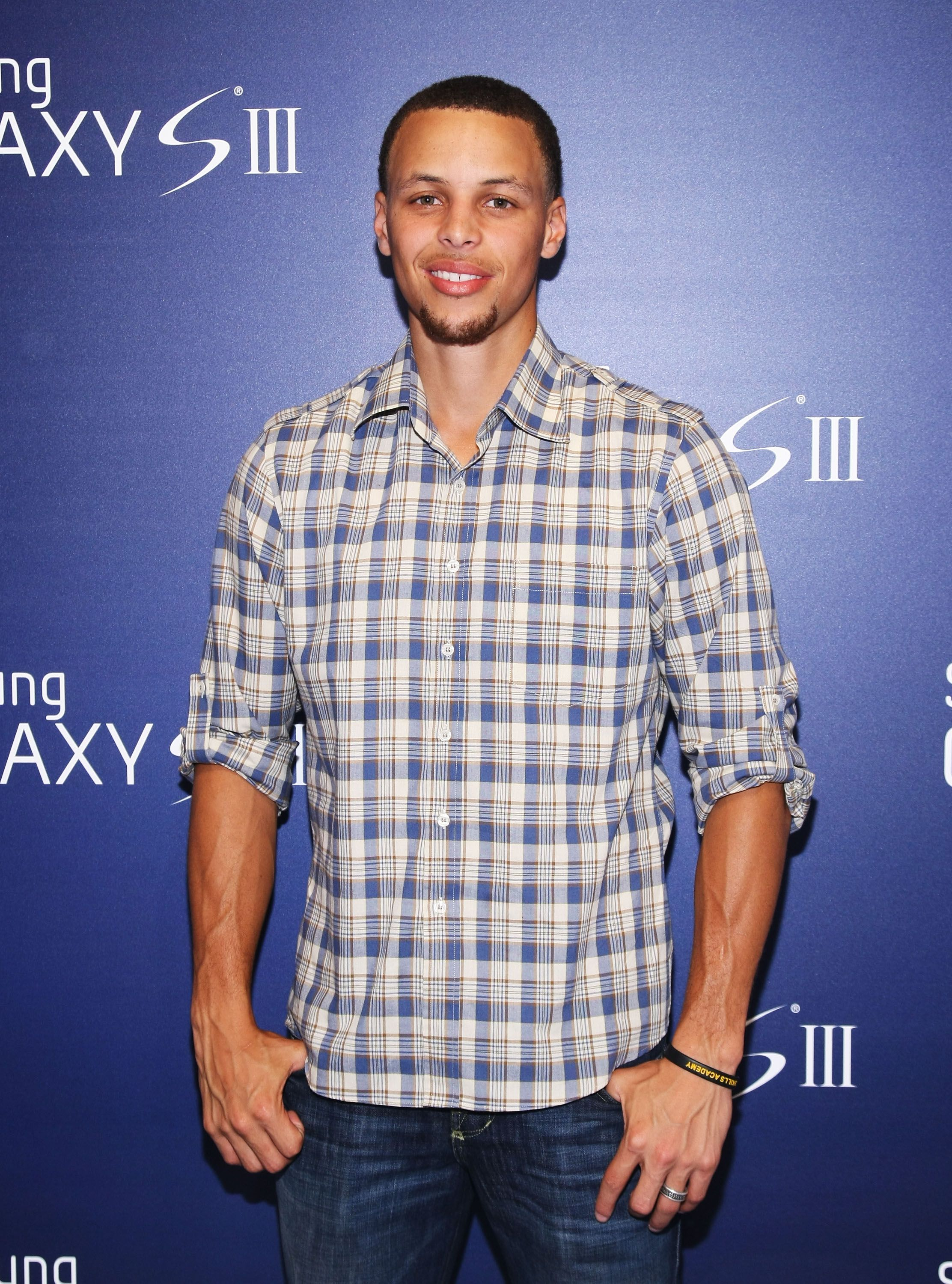 Stephen Curry at the Samsung Galaxy S III Launch hosted by Ashley Greene at Skylight Studios on June 20, 2012 in New York City. | Source: Getty Images