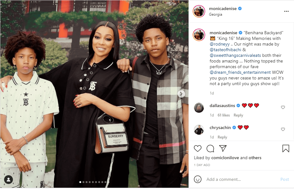 Image of Monica Denise and her sons | Photo: Instagram/monicadenise
