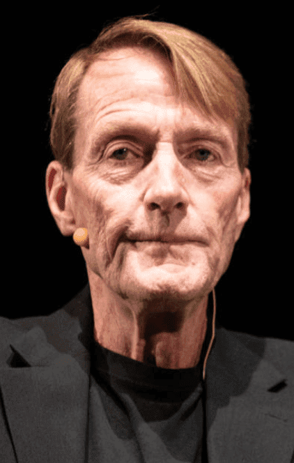 Lee Child sits on stage with a panel at the Bookcity Milan, on November 17, 2019, in Milan, Italy | Source: Rosdiana Ciaravolo/Getty Images